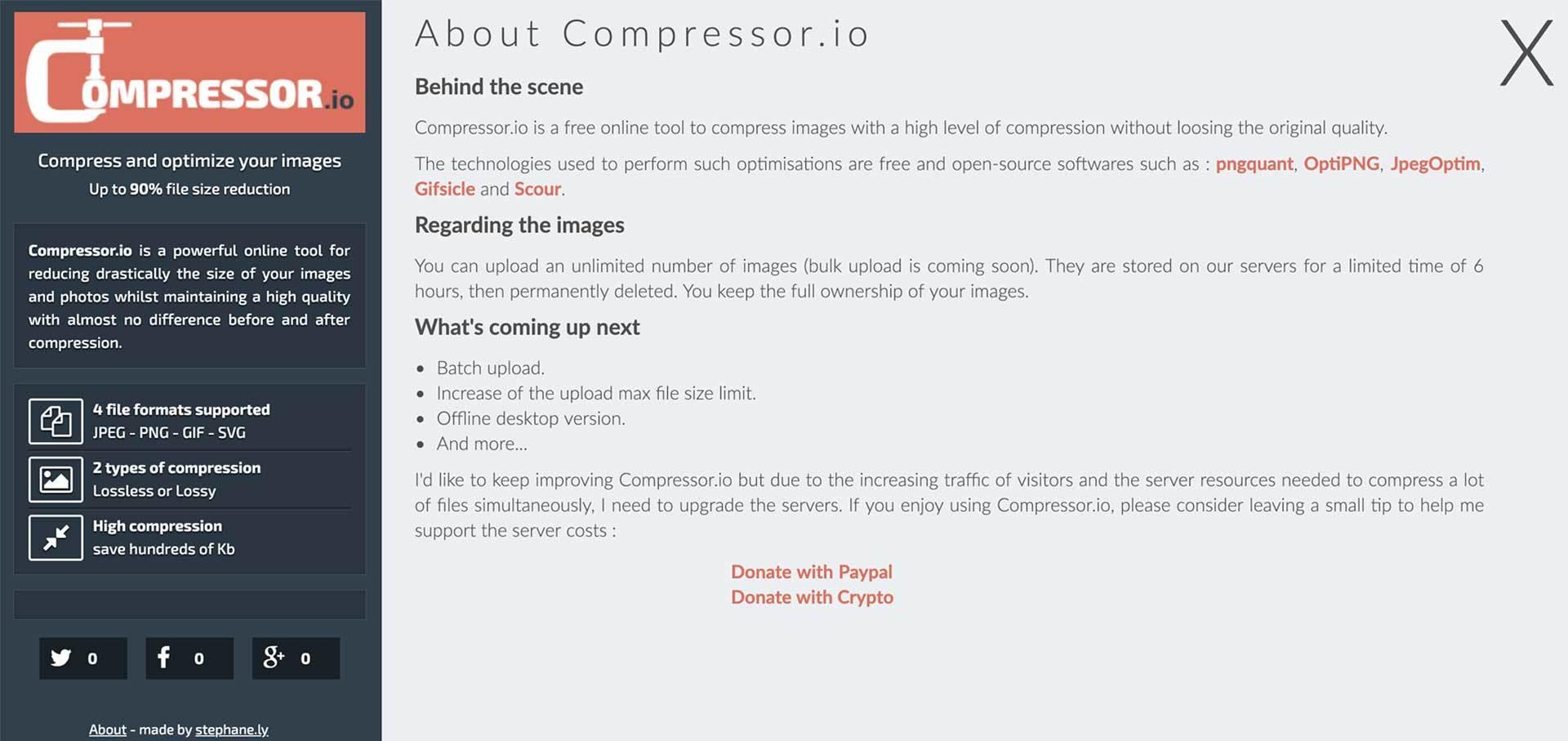 Compress.io - Bilder komprimieren